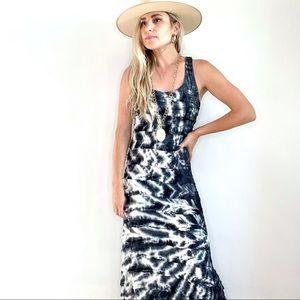Charlotte Tarantola Blue & White Tie Dye Maxi